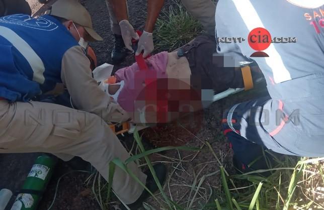 Rapaz que sofreu acidente na PR-323 nesta tarde morreu após dar entrada no Hospital