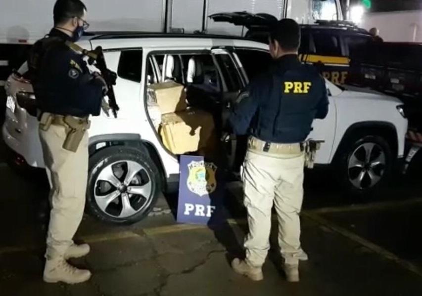 PRF apreende em 12 horas, mais de 1 tonelada de maconha no Paraná