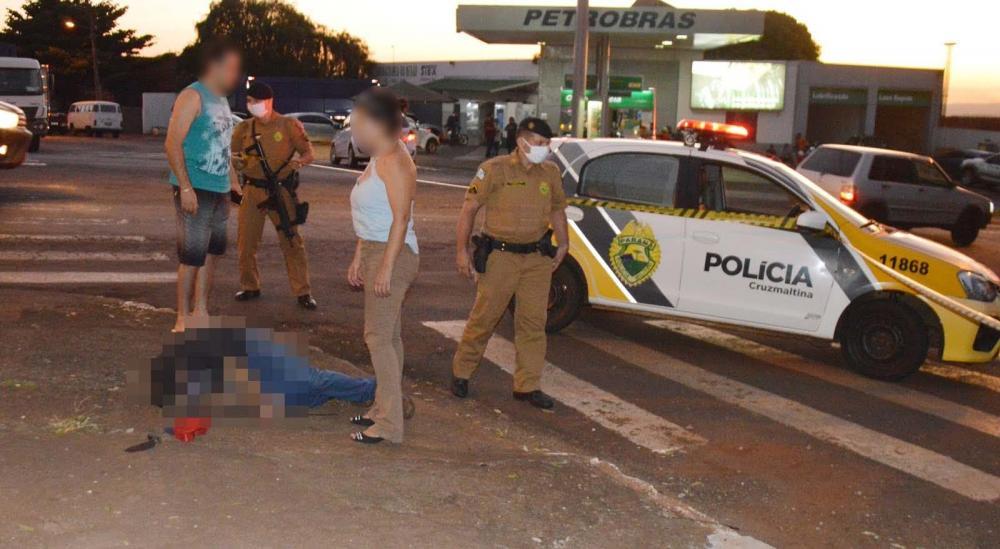 Homem é assassinado a tiros e golpes de faca na área central de Borrazópolis