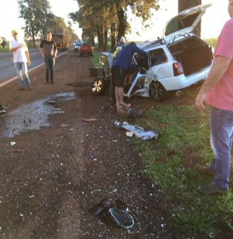 Grave acidente é registrado entre Palotina e Maripá. Helicóptero é acionado para transferir vítima.