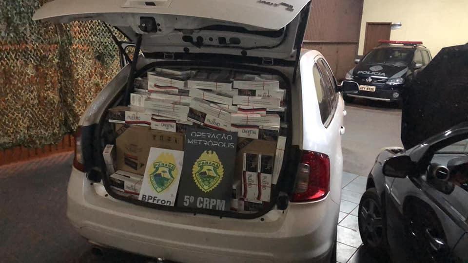 BPFRON apreende veículos e contrabando em  Cafezal do Sul
