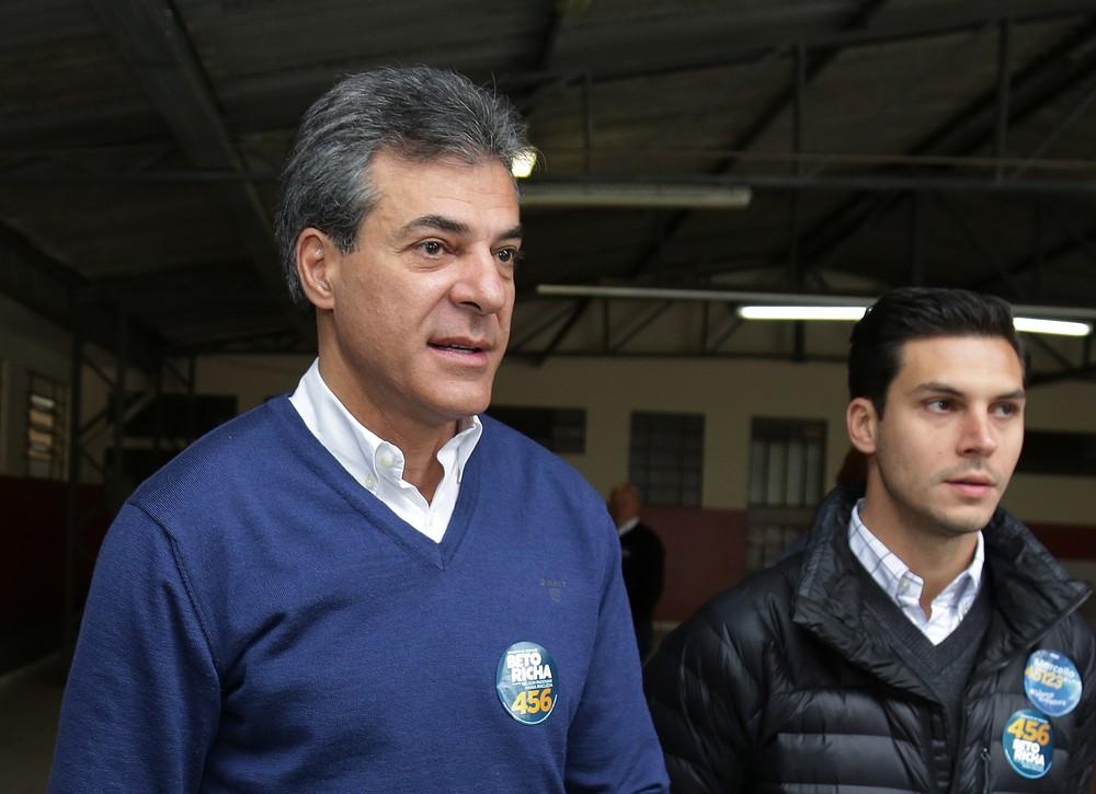 O ex-governador do Paraná Beto Richa — Foto: Giuliano Gomes/PR Press
