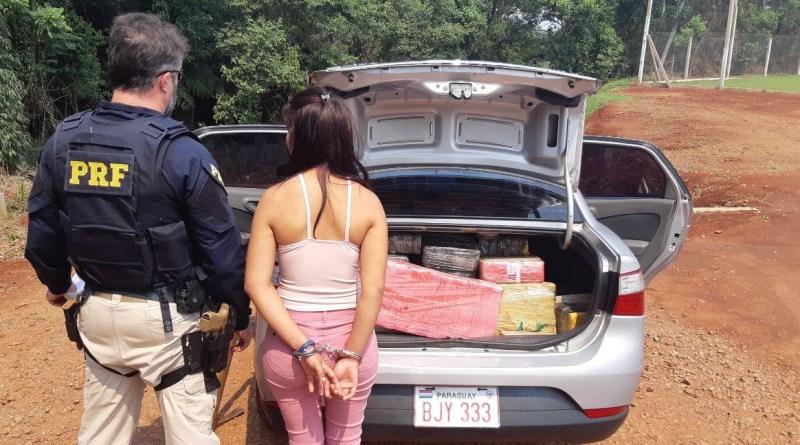 PRF prende mulher paraguaia com 246 quilos de maconha em Ibema (PR)