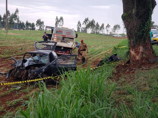 Tragédia no Paraná: quatro pessoas da mesma família morrem em acidente