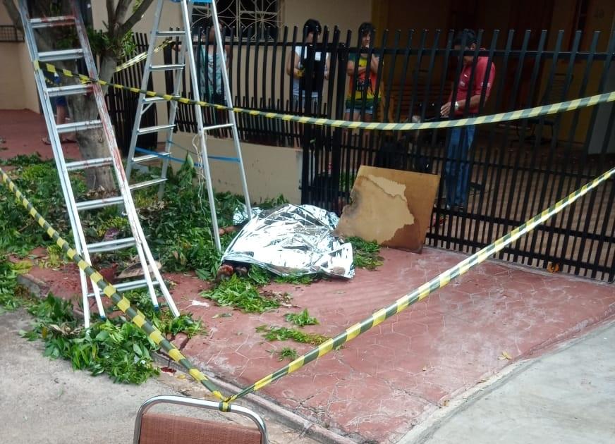 Trabalhador morre atingido por tesoura durante poda de árvore em Santo Antônio do Sudoeste