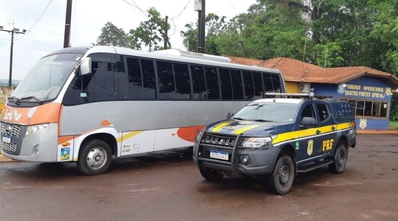 Casal é preso em Marechal Cândido Rondon, com ônibus furtado