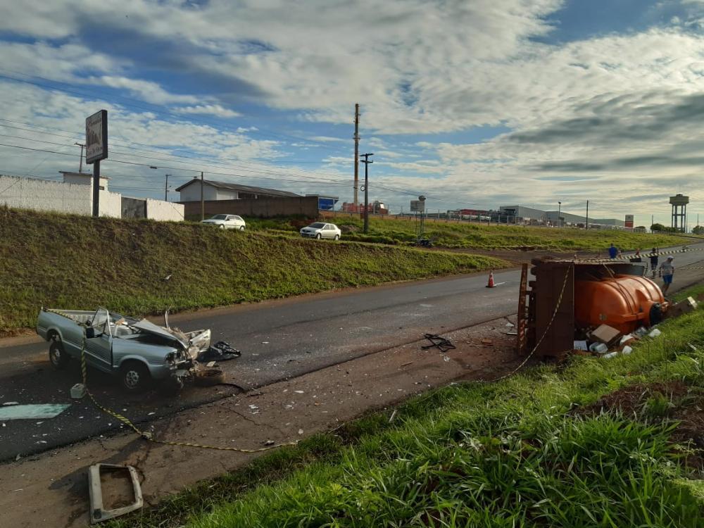 Homem morre após colisão frontal na rodovia PR-280